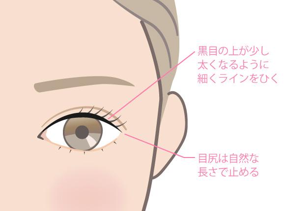 目の説明イラスト